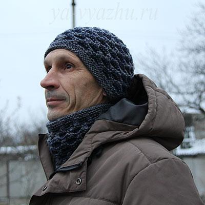 Теплая шапка и манишка для зимы