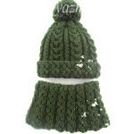 Детская шапочка и снуд спицами — зимний комплект для 4-х летнего внука