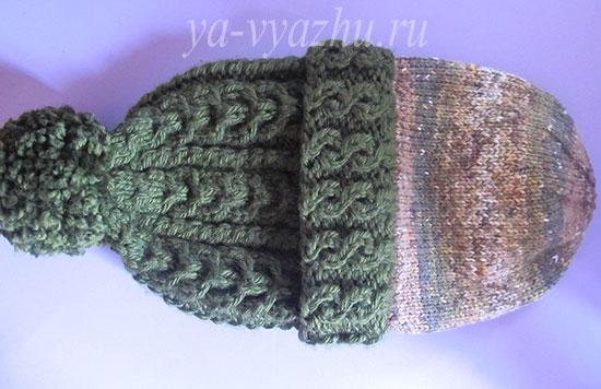 Внутренняя шапка спицами