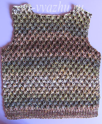 Перед свитера для мальчика спицами