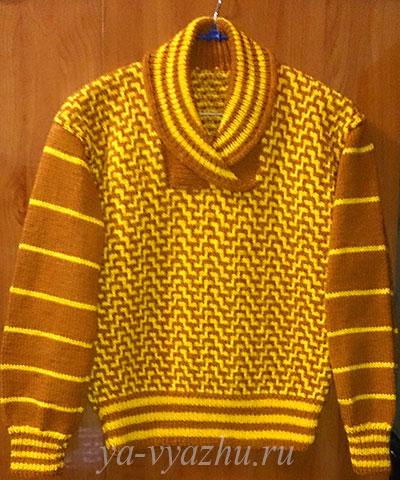 Пуловер для девочки спицами от Елены Ивановой