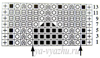 """Схема узора """"Колокольчики"""" вариант 4"""