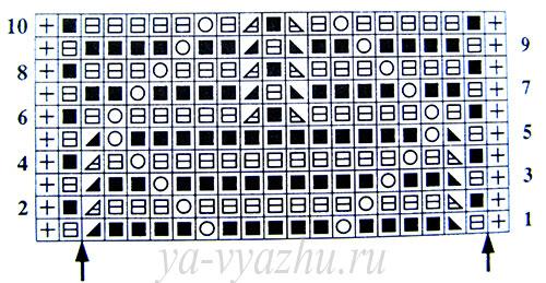 """Схема узора """"Кружевные листики"""""""