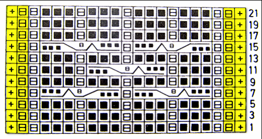 Схема узора В