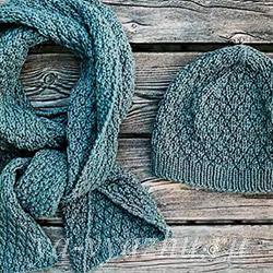 Шапочка и шарф структурным узором