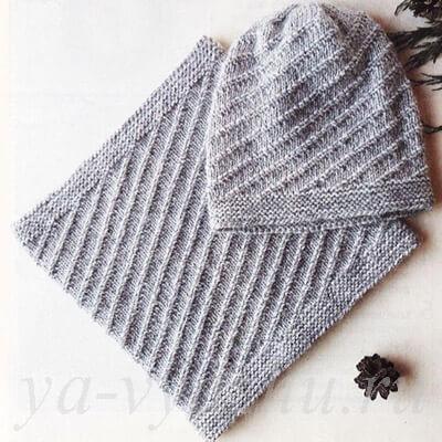 Шапочка и шарф-снуд