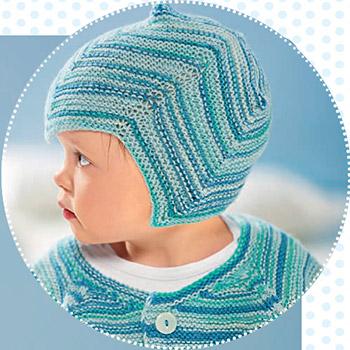 Детская спортивная шапочка спицами