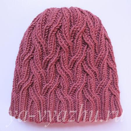 Женская шапка готова!
