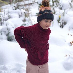 "Детский свитер спицами ""Гранатик"""
