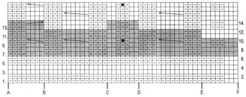 Схема узора короткого пончо