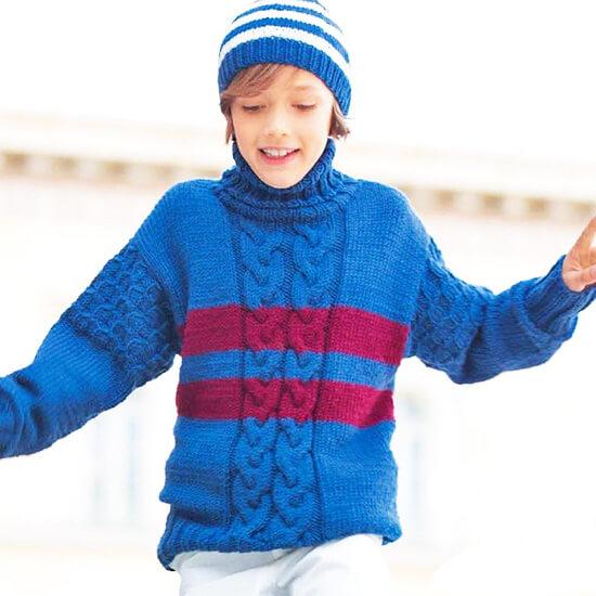 Синий свитер для мальчика