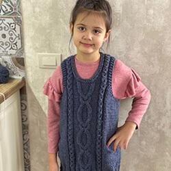 Туника-безрукавка для 7-летней девочки