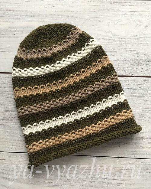 Новая шапочка бини для внука