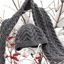 Как связать шапку и шарф спицами в стиле «unisex»