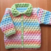 Детская кофточка «Карамелька» для крошечной девочки Златы