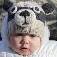 Как связать детскую шапочку «Енотик» спицами