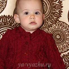 Детская кофточка «Лесные ягодки» — красиво, стильно и тепло!