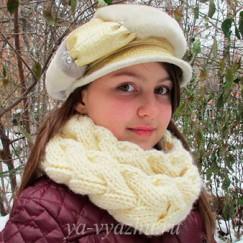 Шарф-снуд в виде косы от Евгении Шкрылевой