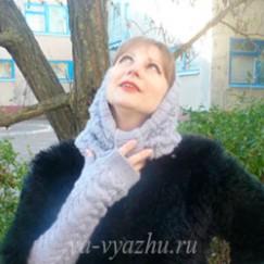 Шарф-хомут и митенки спицами от Ольги Фокиной