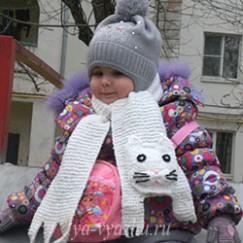 Кот из шарфа или шарф из кота — котошарф от Марины Гибовской
