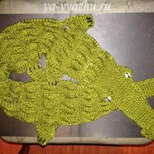 Детский шарф — «крокодил» спицами от Елены Выскребцевой