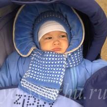 Как связать детскую шапочку и шарфик спицами для малыша