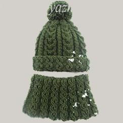 Детская шапочка и снуд спицами — зимний комплект для ребенка 7-8 лет