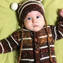 Комплект «Медведя»: комбинезон и шапочка для маленького внука
