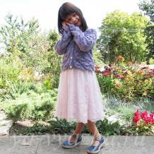Обновка для внучки: кофточка для девочки 6-7 лет «Моя рыбка»