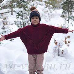 Два в одном: свитер «Гранатик» для шестилетней внучки